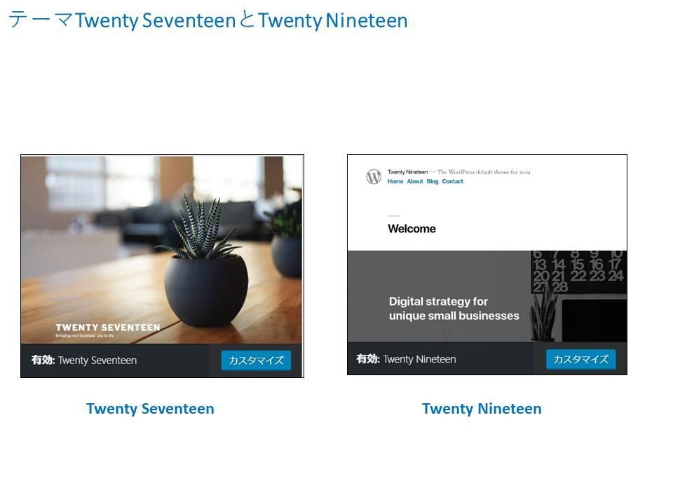 テーマTwenty SeventeenとTwenty Nineteen