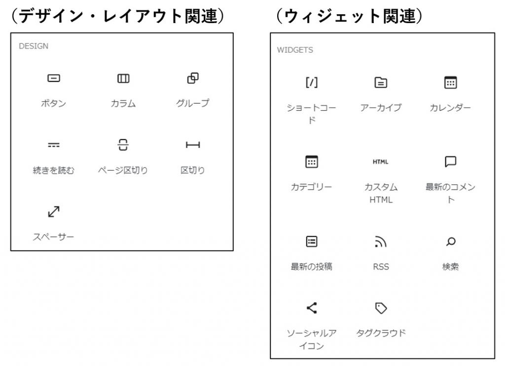 5.5のブロックのグループ_デザイン関連・ウィジェット関連