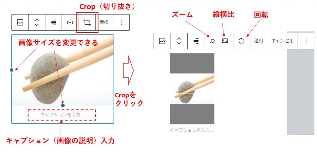 5.5での画像ブロックのCROP機能