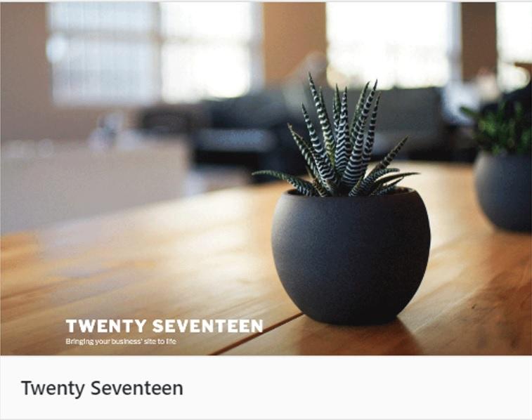 テーマTwenty Seventeen
