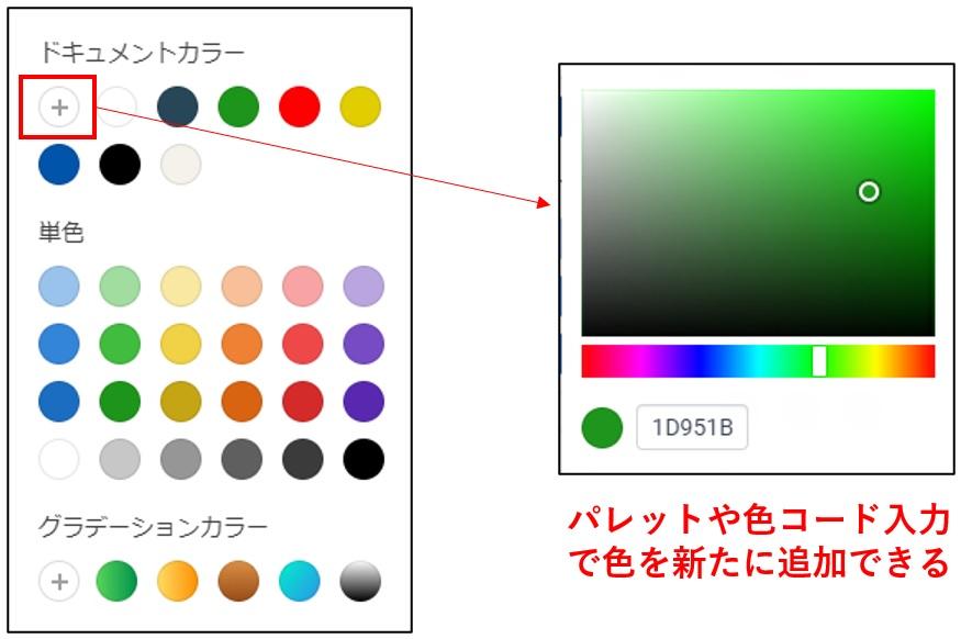 カラーの追加